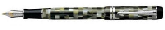 ручки parker .ручка паркер перьевая в футляре Duofold  Internation Check Olive ST