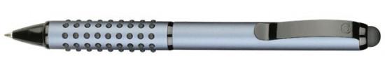 салиас ручки,ручки со стилусом, ручка шариковая Салиас Айюва из алюминия матовая серая со стилусом