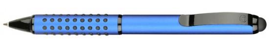 салиас ручки,ручки со стилусом, ручка шариковая Салиас Айюва из алюминия матовая синяя со стилусом