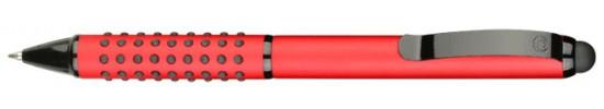 салиас ручки,ручки со стилусом, ручка шариковая Салиас Айюва из алюминия матовая красная со стилусом