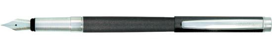 салиас ручки, ручка перьевая Салиас Гдов антрацит с отделкой хромом