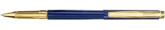 салиас ручки, ручка роллер Салиас Гдов синий лак с отделкой золотом