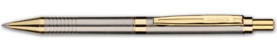 салиас ручки, ручка шариковая Салиас Гдов сталь с отделкой золотом