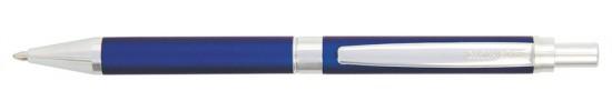салиас ручки, ручка шариковая Салиас Гдов покрыта матовой синий краской с отделкой хромом