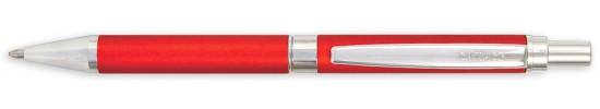 салиас ручки, ручка шариковая Салиас Гдов покрыта матовой красной краской с отделкой хромом