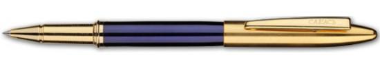 салиас ручки, ручка роллер Салиас Новгород Репортер покрыта синим лаком с позолоченной отделкой