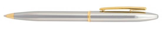 салиас ручки, ручка шариковая Салиас Новгород покрыта хромом с позолоченной отделкой
