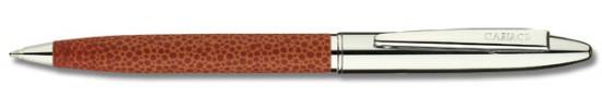 салиас ручки, ручка шариковая Салиас Новгород  хром коричневая имитация кожи