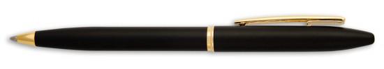 салиас ручки, ручка шариковая Салиас Новгород покрыта матовой черной краской с позолоченной отделкой