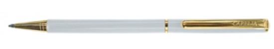 салиас ручки, ручка шариковая Салиас Псков белый лак отделка золотом