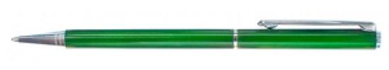 салиас ручки, ручка шариковая Салиас Псков из алюминия зеленый лак
