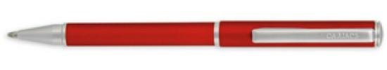 салиас ручки, ручка шариковая Салиас Ростов матовая красная с отделкой хромом